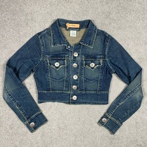 90's Y2K Z. Cavaricci Cropped Stretch Denim Jacket
